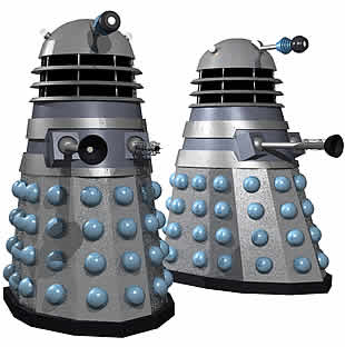 Click on the old Dalek to see the new one.