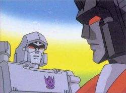 You're an idiot, Starscream! Tekka is TUNA, not salmon! Decepticons! To Sushi Robo!