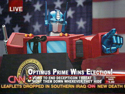 A victory for the little Jewish kid from Cybertron.